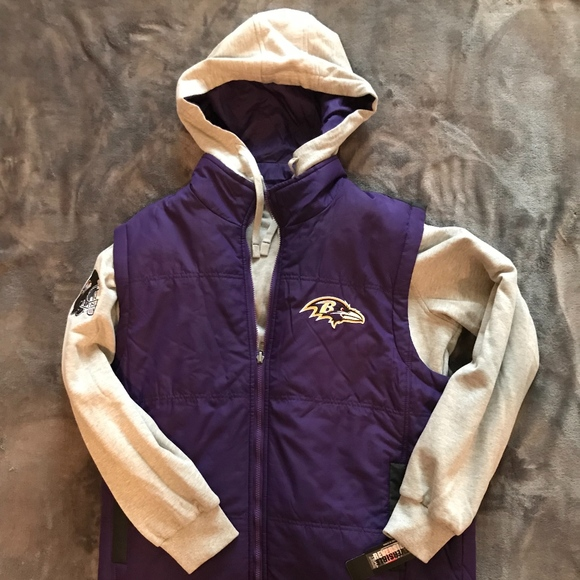 best loved b95d3 34524 Baltimore Ravens 8-in-1 Reversible Vest & Hoodie NWT